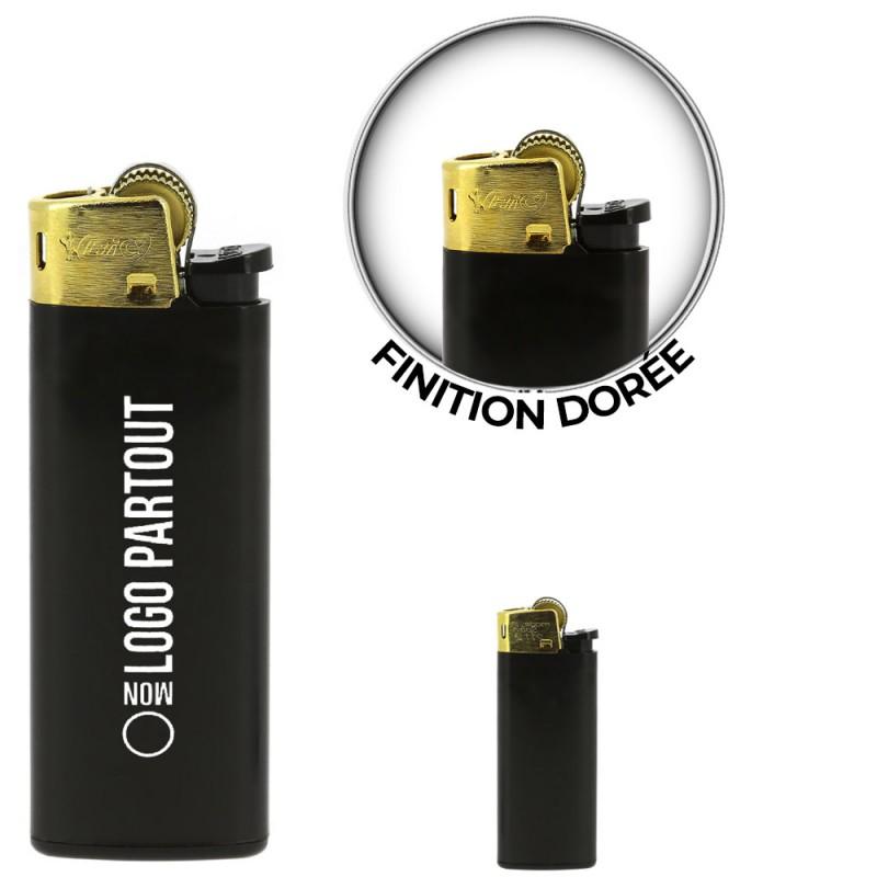 Briquet Mini BIC ® J25 All Black & Gold Publicitaire Briquet Mini BIC ® J25 All Black & Gold Publicitaire