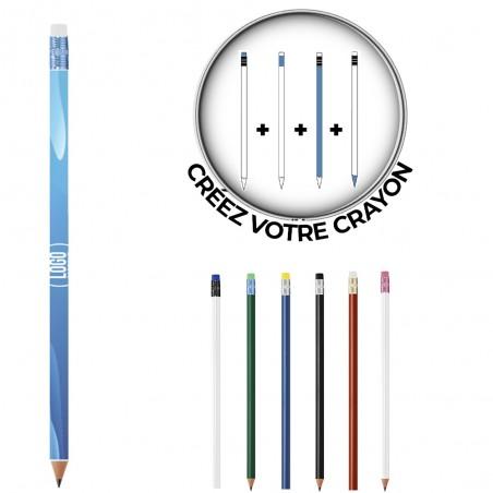 Crayon Bic ® Evolution Gomme Personnalisé Crayon Bic ® Evolution Gomme Personnalisé