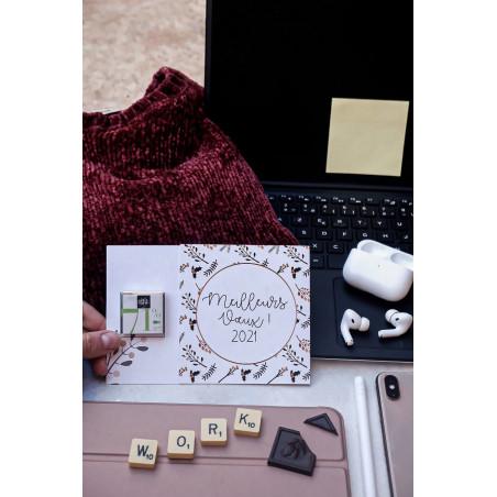 Carré de chocolat 4 gr avec carte personnalisable Le petit carré de chocolat - Carte avec carré 4g ambiance
