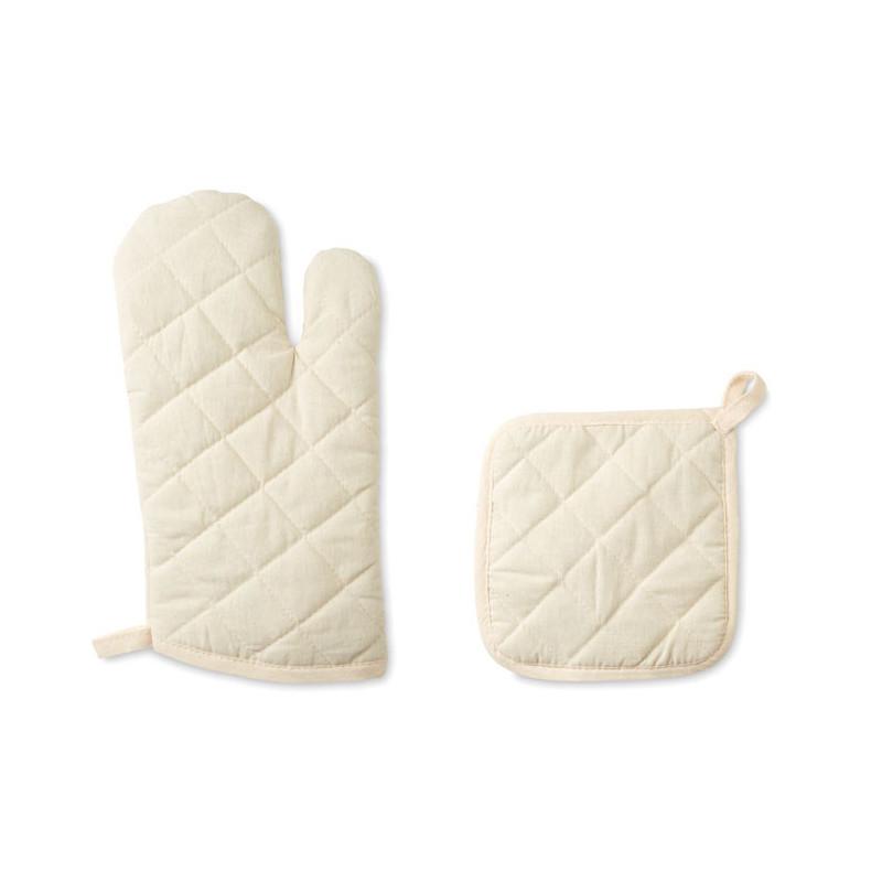 Ensemble gant de cuisson et manique Mitty