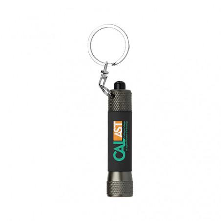 Porte-clés lampe publicitaire McQueen acier soft touch Porte-clés lampe publicitaire McQueen acier soft touch - Noir