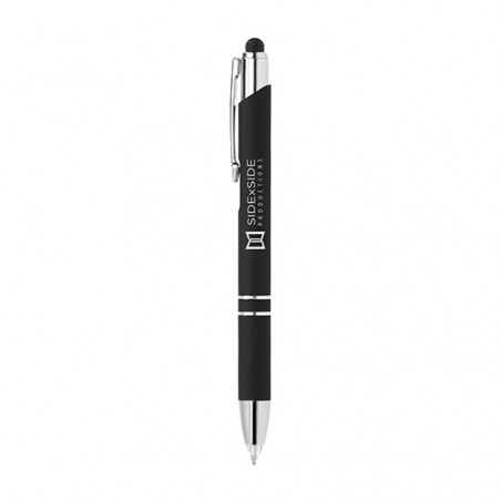Stylo publicitaire Crosby lumineux stylet personnalisable Stylo publicitaire Crosby lumineux stylet personnalisable - Noir