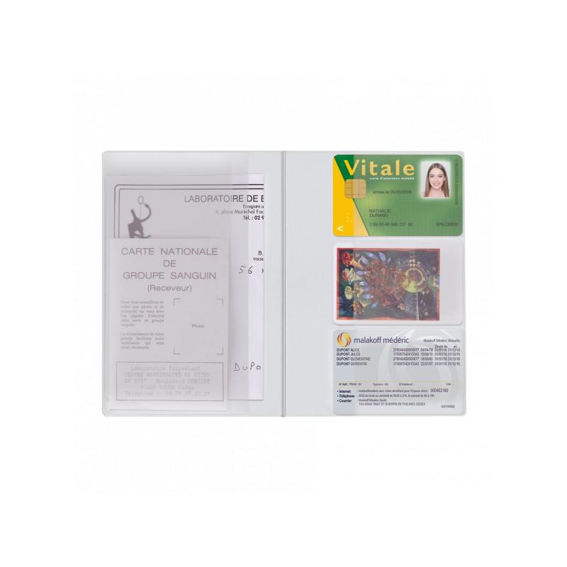 Pochette Santé Personnalisée Card PVC Pochette Santé Personnalisée Card PVC - Blanc Ouvert