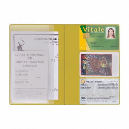 Pochette Santé Personnalisée Card PVC Pochette Santé Personnalisée Card PVC - Jaune