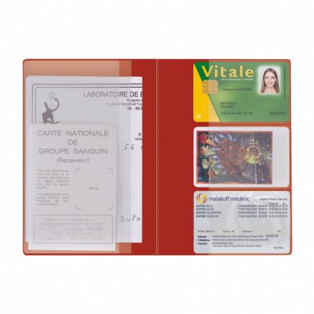 Pochette Santé Personnalisée Card PVC Pochette Santé Personnalisée Card PVC - Rouge