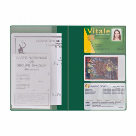 Pochette Santé Personnalisée Card PVC Pochette Santé Personnalisée Card PVC - Vert