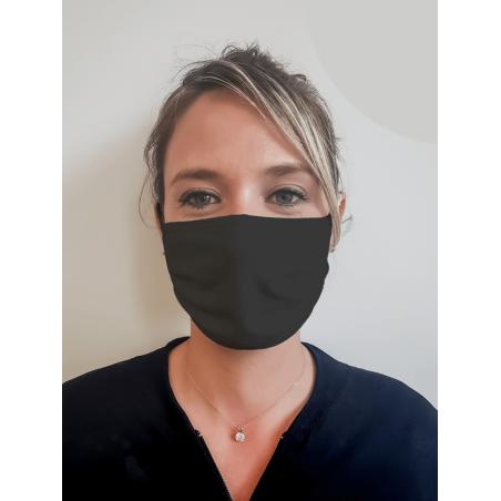 Masque noir grand public filtration supérieure à 90% Masque noir grand public 100 lavages UNS1