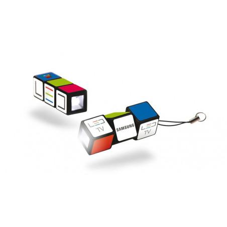 Porte-Clés Lampe Publicitaire Rubik's Cube Porte-Clés Lampe Publicitaire Rubik's Cube