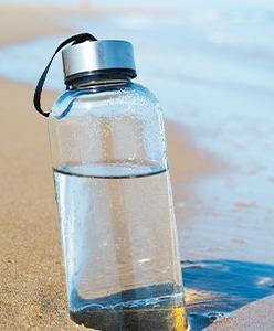 Avec la boîte à objets créez votre bouteille publicitaire sur mesure